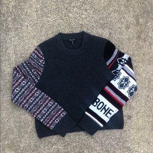 Rag & Bone Women Knit Sweater Black Size Medium